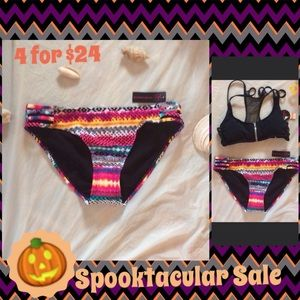 Other - Cute & colorful multi strong bikini bottoms